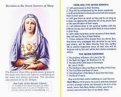 rosary of the seven sorrows the seven sorrows devotion prayer