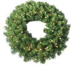 24 pine wreath 250 tips and 50 concave soft white led lights w