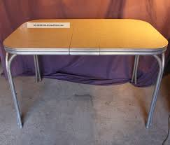 Kitchen Collectibles Century Diner Kitchen Table Formica Silver Metal Chrome Retro