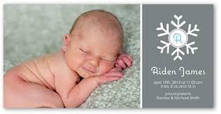 snowflake baby 4x8 boy birth announcements shutterfly