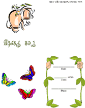 butterflies tea party free printable party invitation template