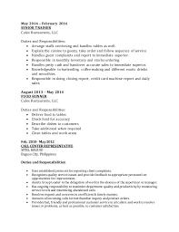 Food Runner Resume Sample by Archie Cv 1