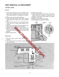 750 sewing machine service manual repairs parts lists