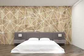 chambre avec lit rond chambre à coucher avec le lit rond et les murs géométriques