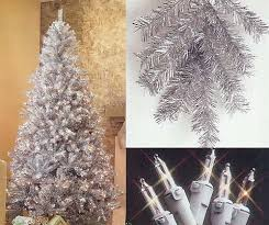 7 5 pre lit retro silver tinsel artificial tree clear