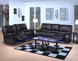 Black Leather Reclining Sofa And Loveseat Power Reclining Sofa And Loveseat With Led Lights
