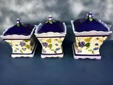 grape kitchen canisters grapes kitchen canisters ebay