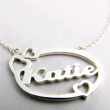 Name Jewelry Personalized Customized Name Jewelry Silver Gold Name Necklace