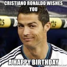 Cristiano Ronaldo Meme - cristiano ronaldo wishes you a happy birthday ronaldo meme generator