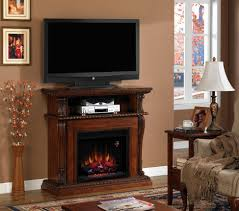 small fireplace entertainment centre with dvd player rack and