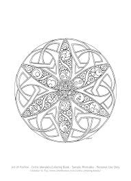 free celtic mandala coloring page to print u2013 art of foxvox