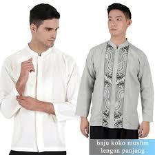 baju koko qoo10 baju koko lengan panjang mens muslim wear bahan katun