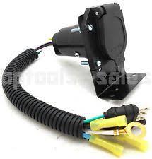 4 flat to 7 way rv trailer light plug wire harness converter