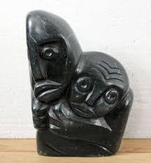 Zimbabwe Soapstone Carvings Vintage Zimbabwe African Shona Stone Art Carving Sculpture Mother