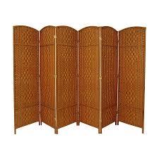 room divider furniture shop oriental furniture diamond weave 6 panel dark beige woven