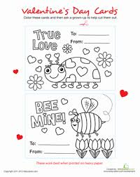 valentine u0027s day coloring for preschool education com