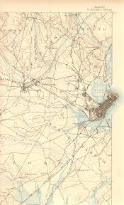 Portland Maps by The Vigorous North Portland Maine In Historic Usgs Topographical