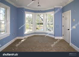Bedroom Wall Of Windows Blue Bedroom Lots Windows Looking Out Stock Photo 9351034