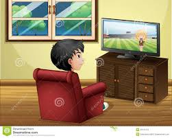 The Livingroom by A Young Boy Watching Tv At The Living Room Stock Photos Image