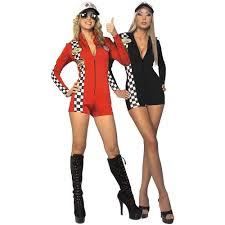 Toy Soldier Halloween Costume Womens Racer Race Car Driver Racing Racecar Costume Halloween Fancy Dress
