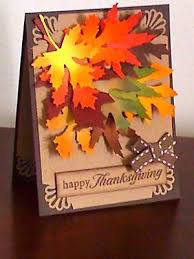 handmade by jlena greeting card making kit autumn leaves