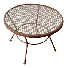 Vintage Homecrest Patio Furniture - 1950s vintage mid century wire mesh patio round table furniture