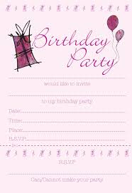 Birthday Party Cards Invitations 15 Invitations Template Best Template Collection