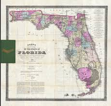 Map Of The State Of Florida by File 1884 Drew Pocket Map Of Florida Geographicus Florida Drew
