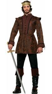 Male Halloween Costumes Medieval King Tunic Costume King Halloween Costume Costumes