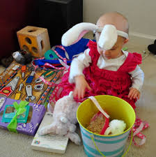 pre made easter baskets for babies the bean s easter basket babycenter