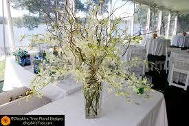 White Dendrobium Orchids Lee 07b Wainwright House Rye Wedding Cermony Arrangement White