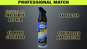 Popcorn Ceiling In A Can by Homax Pro Grade Popcorn Ceiling Texture Youtube