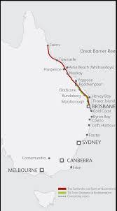 Map East Coast Queensland Coastal Pass