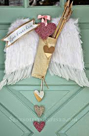 Gold Valentines Day Decor by Serendipity Refined Blog Valentine U0027s Day Door Decoration Feather