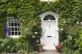 doors with climbing vines floral entryways