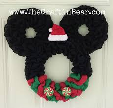 christmas mickey mouse wreath burlap wreath santa mickey