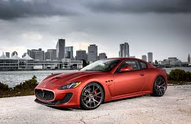 red maserati customized maserati granturismo exclusive motoring miami fl