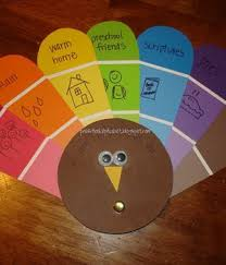 thanksgiving craft idea a colourful thankful turkey