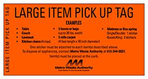 trash large items metro waste authority providing safe