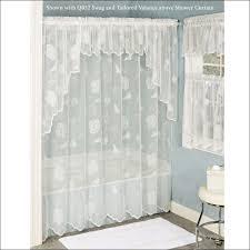 Shower Curtain Beach Theme Bathroom Marvelous Tub Shower Curtain White Seashell Shower