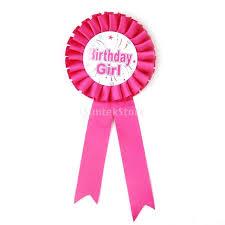 birthday girl pin phenovo birthday girl award ribbon badge party favor shocking pink