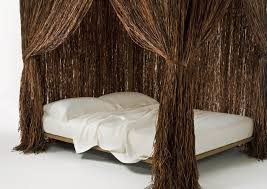 canopy bed double original design wooden cabana by