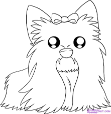 yorkie coloring pages color a puppy coloring book pages