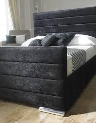 Velvet Bed Frame Upholstered Velvet Bed Frame Melior Rooms