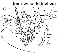 joseph mary u0027s journey coloring coloring
