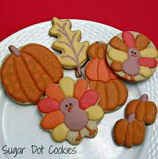 sugar dot cookies fall cookie decorating class