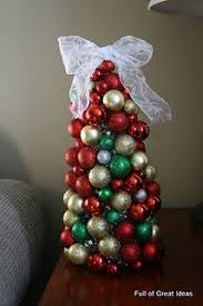 diy tree mini plastic balls styrofoam cone tinsel and