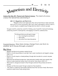 magnetism and electricity study guide and reflection journal