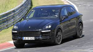 2018 porsche cayenne seen undergoing tests at the ring automotorblog