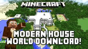 minecraft modern house world download and tour minecras